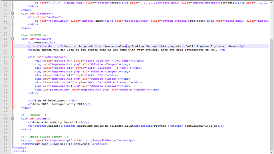 html projects with source code